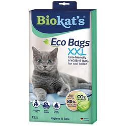 Biokats - Biokats Eco Bags Kedi Kumu Hijyen Torbası XXL (12'li Paket)