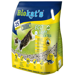 Biokats - Biokats Eco Light Ekstra (Active Carbon) Pelet Naturel Kedi Kumu 5 Lt