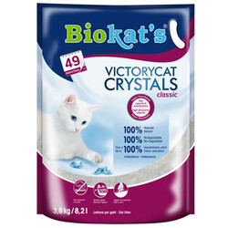 Biokats - Biokats Victory Cat Crystals Classic Silica Kedi Kumu 3.6 Kg - 8.2 Lt