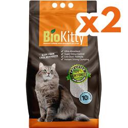 Bio Kitty - BioKitty Marsilya Sabunlu Tozsuz İnce Taneli Topaklanan Kedi Kumu 10 Lt x 2 Adet