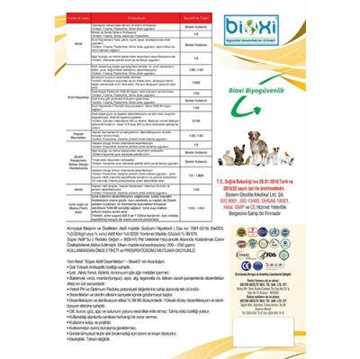 Bioxi Evcil Hayvan Dezenfektan Spreyi 1 Lt