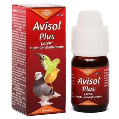 Biyoteknik Avisol Plus Çözelti Kuşlar İçin Multi Vitamini 20 ML