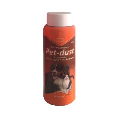 Biyoteknik Dermacure Pet Dust Kedi ve Köpekler için Kuru Pudra Şampuan 100 Gr