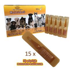 Biyoteknik - Biyoteknik Powercure Multidog Yavru ve Hamile Köpekler için Sıvı Tamamlayıcı Yem 30 ML (15x2ML)
