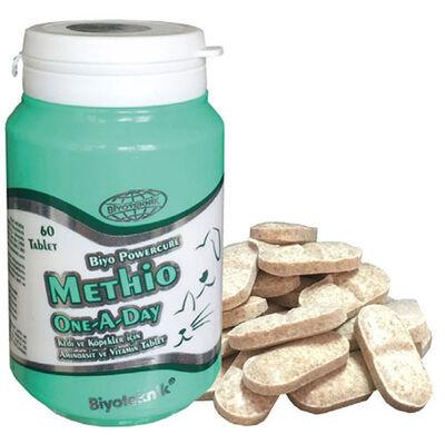 Biyoteknik Methio One A Day Kedi ve Köpek Vitamin Tableti ( 60 Tablet )