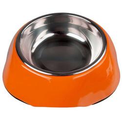 Bobo - Bobo 3138(A5) Melamin Çelik Taslı Kedi ve Köpek Mama-Su Kabı 150 ML-(Turuncu)