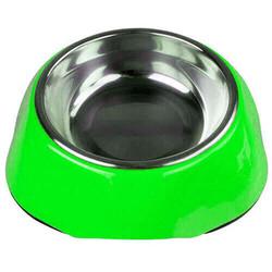 Bobo - Bobo 3134(A5) Melamin Çelik Taslı Kedi ve Köpek Mama-Su Kabı 150 ML-(Yeşil)