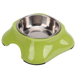 Bobo - Bobo 3138(A5) Melamin Çelik Taslı Kedi ve Köpek Yeşil Mama Kabı 150 ML