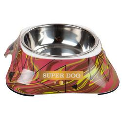 Bobo - Bobo 3138(HA5) Melamin Çelik Taslı Köpek Mama Kabı 150 ML