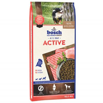 Bosch Active Glutensiz Performans Köpek Maması 15 Kg + 10 Adet Temizlik Mendili