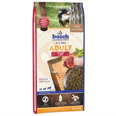 Bosch Adult Lamb Glutensiz Kuzu Etli Köpek Maması 15 Kg+Bosch 1000 Gr Ödül