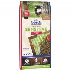Bosch - Bosch Glutensiz Sensitive Lamb Kuzu Köpek Maması 15 Kg + 10 Adet Temizlik Mendili