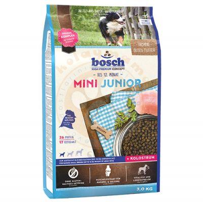 Bosch Mini Junior Glutensiz Küçük Irk Yavru Köpek Maması 3 Kg + 5 Adet Temizlik Mendili