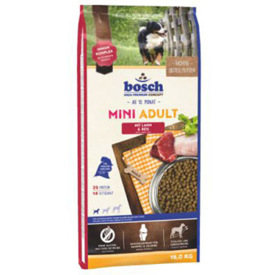 Bosch Mini Lamb Glutensiz Kuzu Etli Küçük Irk Köpek Maması 15 Kg + 10 Adet Mendil