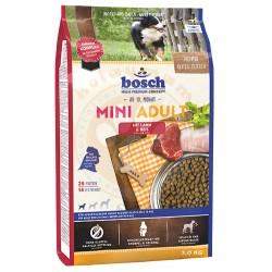 Bosch - Bosch Mini Lamb Glutensiz Kuzu Küçük Irk Köpek Maması 3 Kg+5 Adet Temizlik Mendili