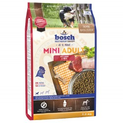 Bosch - Bosch Mini Lamb Glutensiz Kuzu Küçük Irk Köpek Maması 3 Kg + 5 Adet Temizlik Mendili