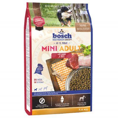 Bosch Mini Lamb Glutensiz Kuzu Küçük Irk Köpek Maması 3 Kg + 5 Adet Temizlik Mendili