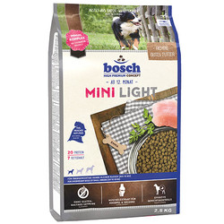 Bosch - Bosch Mini Light Küçük Irk Düşük Kalori Köpek Maması 2,5 Kg + 5 Adet Temizlik Mendili