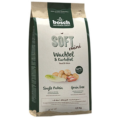 Bosch Soft Mini Bıldırcın ve Patatesli Tahılsız Küçük Irk Köpek Maması 1 Kg