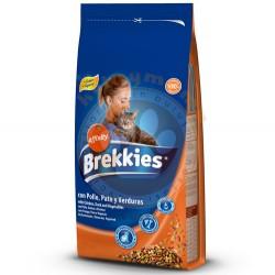 Brekkies - Brekkies Excel Cat Mix Tavuklu Kedi Maması 1,5 Kg + 2 Adet Temizlik Mendili