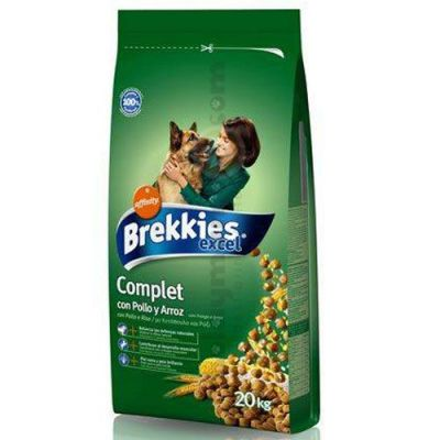 Brekkies Excel Complet Tavuklu Köpek Maması 20 Kg + 10 Adet Temizlik Mendili