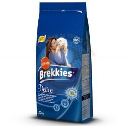 Brekkies - Brekkies Excel Delice Fish Balıklı Kedi Maması 20 Kg+5 Adet 100 Gr Yaş Mama