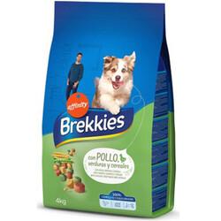 Brekkies - Brekkies Tavuk Etli ve Sebzeli Yetişkin Köpek Maması 4 Kg + 5 Adet Temizlik Mendili