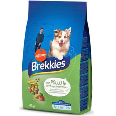 Brekkies Tavuk Etli ve Sebzeli Yetişkin Köpek Maması 4 Kg + 5 Adet Temizlik Mendili