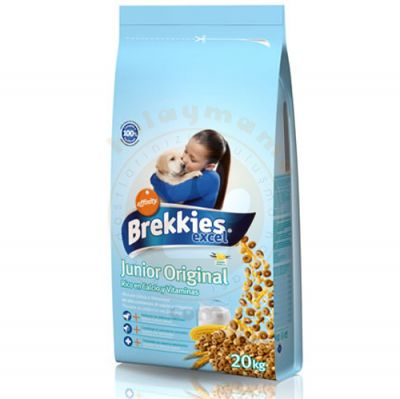 Brekkies Excel Junior Original Yavru Köpek Maması 20 Kg + 10 Adet Temizlik Mendili
