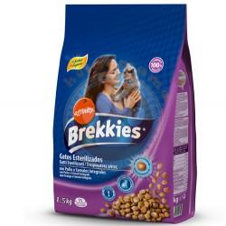 Brekkies - Brekkies Excel Kısırlaştırılmış Kedi Maması 1,5 Kg + 2 Adet Temizlik Mendili