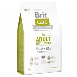 Brit Care - Brit Care Adult Small Küçük Irk Kuzulu Köpek Maması 3 Kg + 5 Adet Temizlik Mendili