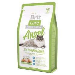 Brit Care - Brit Care Angel Senior Yaşlı Kedi Maması 2 Kg + 2 Adet 100 Gr Yaş Mama