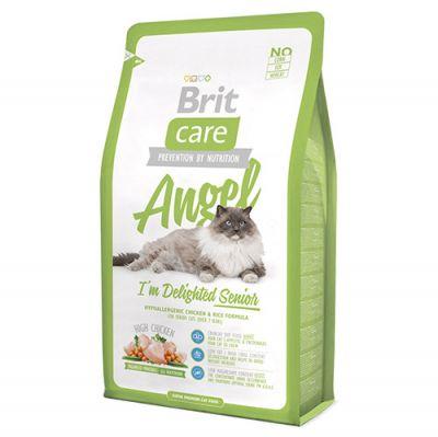 Brit Care Angel Senior Yaşlı Kedi Maması 2 Kg + 2 Adet 100 Gr Yaş Mama