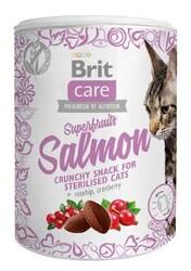 Brit Care - Brit Care Cat Snack Superfruits Salmon Kuşburnu Yaban Mersini Tahılsız Kedi Ödülü 100 Gr