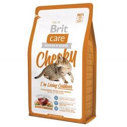 Brit Care - Brit Care Cheeky Outdoor Geyik Etli Kedi Maması 2 Kg + 2 Adet 100 Gr Yaş Mama