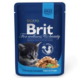Brit Care - Brit Premium Chicken Kitten Tavuk Parçalı Yavru Kedi Yaş Maması 100 Gr