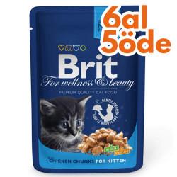 Brit Care - Brit Premium Chicken Kitten Tavuklu Yavru Kedi Yaş Maması 100 Gr-6 Al 5 Öde