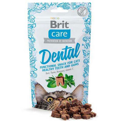 Brit Care Cat Snack Dental Tahılsız Ağız ve Diş Sağlğı Kedi Ödülü 50 Gr