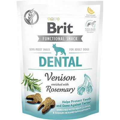 Brit Care Dental Geyik ve Biberiye Ağız ve Diş Sağlığı Tahılsız Köpek Ödülü 150 Gr