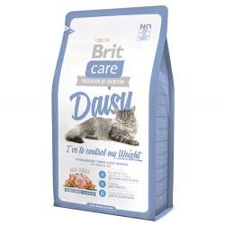 Brit Care - Brit Care Daisy Kilo Kontrolü Kedi Kuru Maması 2 Kg + 2 Adet 100 Gr Yaş Mama