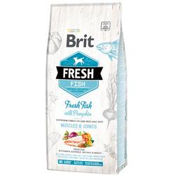 Brit Care - Brit Care Fresh Balık Etli ve Kabaklı Köpek Maması 12 Kg+10 Adet Temizlik Mendili