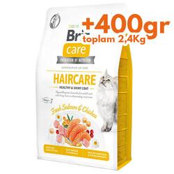 Brit Care - Brit Care Haircare Somon Tavuk Deri ve Tüy Sağlığı Tahılsız Kedi Maması 2 Kg+400 Gr (Toplam: 2,4 Kg)
