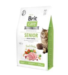 Brit Care - Brit Care Weight Control Senior Tavuk Etli Tahılsız Yaşlı Kedi Maması 2 Kg + 5 Adet Temizlik Mendili