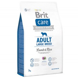 Brit Care - Brit Care Large Breed Büyük Irk Kuzu Köpek Maması 3 Kg+5 Adet Temizlik Mendili
