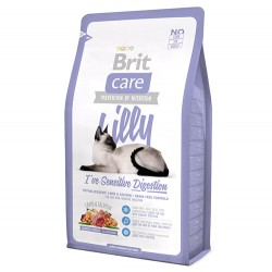 Brit Care - Brit Care Lilly Sensitive Hassas Sindirim Tahılsız Kedi Maması 7 Kg+10 Adet Temizlik Mendili