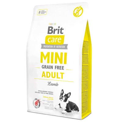 Brit Care Mini Adult Kuzu Küçük Irk Tahılsız Köpek Maması 2 Kg + 2 Adet Temizlik Mendili