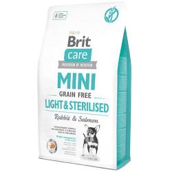 Brit Care - Brit Care Mini Light Kısırlaştırılmış Küçük Irk Köpek Maması 2 Kg+2 Adet Temizlik Mendili