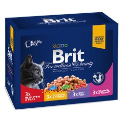 Brit Care - Brit Premium Multipack Lezzet Seçenekleri Avantajlı Paket 12x100 Gr