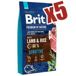 Brit Care - Brit Premium Lamb Kuzu Etli Köpek Maması 15 Kgx5 Adet