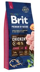 Brit Care - Brit Premium By Nature Puppy Large Tavuklu Büyük Irk Yavru Köpek Maması 15 Kg + 10 Adet Mendil